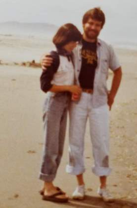 Jerry and Jackie at the beach-1983