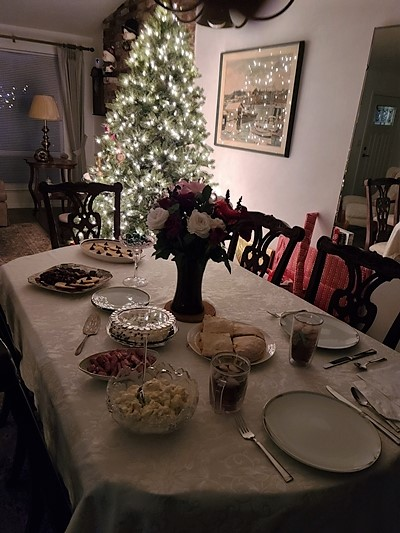 Covid Quarantine Christmas Dinner for Two 2020 - Very quiet holiday this year.  Merry Christmas to all.